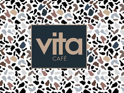Vita Cafe Branding branding design brand identity colorful minimalist logo minimalism minimal business letter v creative logo creative design vita logo coffee cafe branding cafe logo