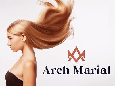 Arch Marial logo and Branding logodesign brand identity logo company logo logo design ui minimal app luxury branding luxury brand icon a m logo a logo arch logo