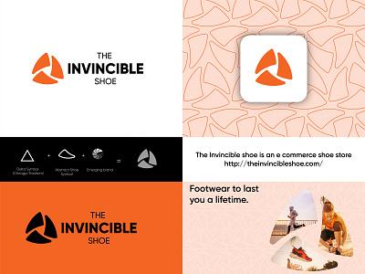 The Invincible Shoe shoe logo branding concept brand design brand identity branding logo design shoe brand