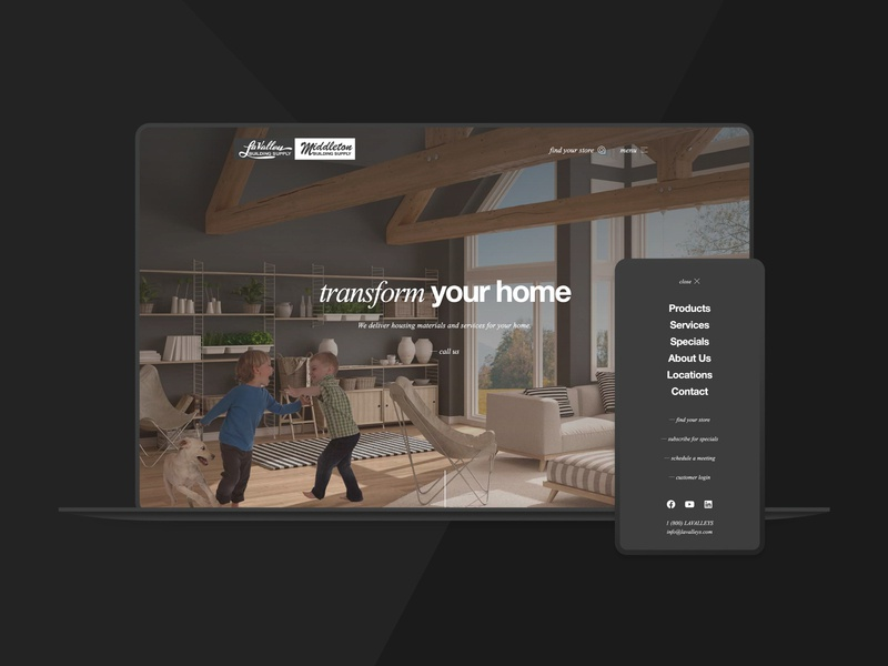 LaValley-Middleton Building Supply Website home framing components lumber nh new hampshire materials construction supply building minimal flat web design web website