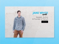 Jake White Speaks Landing Page