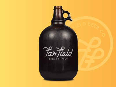 Beer Branding Option minimal line art design brewery mockup icon logo identity brand growler bottle beer