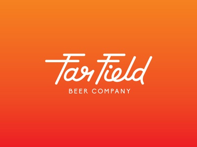 Far Field Beer Co. line hand-type identity brand logo brewery brewing beer