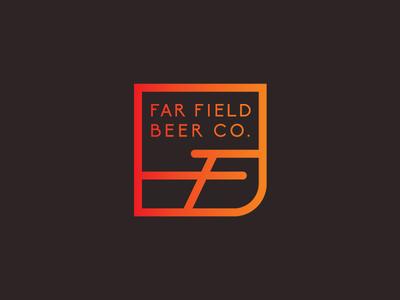 Far Field Icon identity brewery branding beer design logo icon