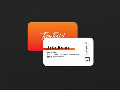 Far Field Business Card local brewery beer design logo identity business card branding