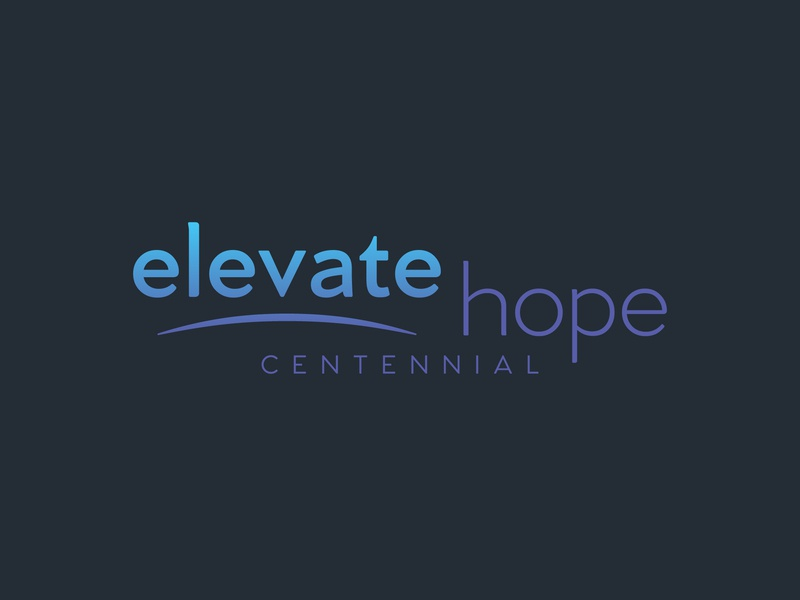 Elevate Hope Centennial identity rocky mountains christian elevate hope denver gospel worship colorado logo branding church