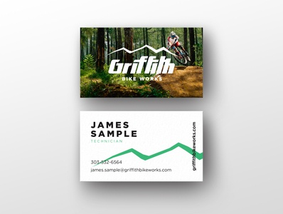 Griffith Bike Works Business Card
