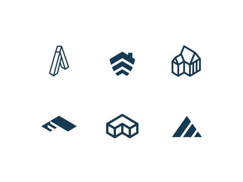 Aspire Built Logo Options grow aspire build house community construction brand design illustration branding flat minimal logo design icon identity logo