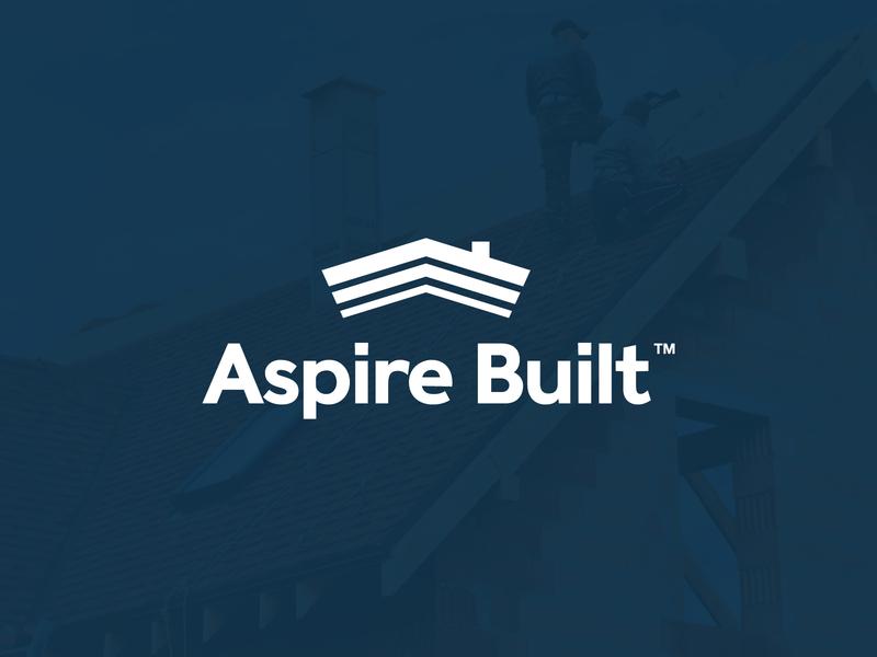 Aspire Built Logo house rennovation building brand minimal illustration logotype icon flat design identity construction branding logo
