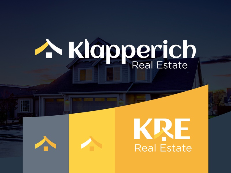 Klapperich Real Estate Branding Option redesign icon home sales house wisconsin mockup design agency real estate identity logo branding