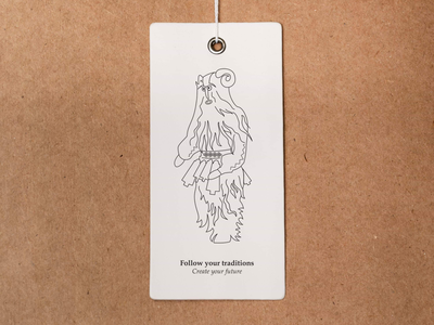 Sustainable solution brand tradition vector fashion slow future etiquette lines illustraion design