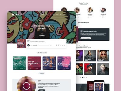 CircleCast UI Design podcast website design web ux typography ui