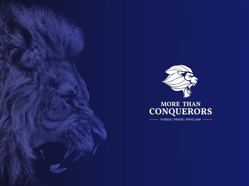 More Than Conquerors Logo Design illustration logo design typography design branding logo logos