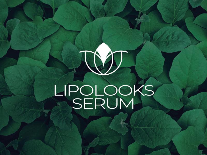 Lipolooks Serum logo Design herbal logo design serum logo logodesign packaging skincare
