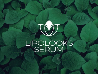 Lipolooks Serum logo Design herbal logo design serum logo logodesign packaging skincare