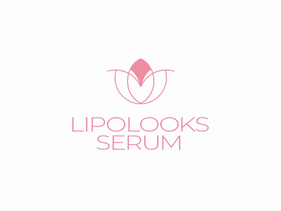 Lipolooks Logo Animation 2danimation motion design logomotion animation pink branding logodesign skincare logo skincare