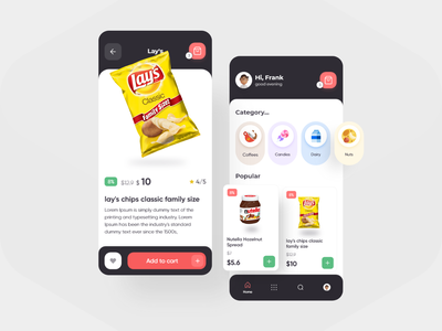 Lazica App Design online shop food app product design mobile ecommerce app design uiux