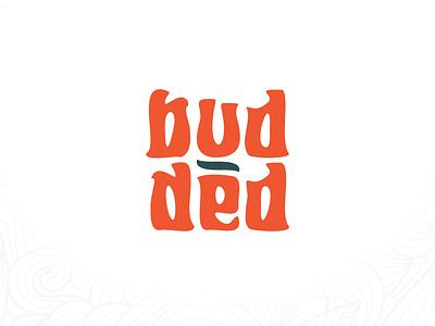 Budded Logo Design hippie style logo hippie style cannabis business cannabis orange logo orangecolor orange logodesign branding logo graphic design