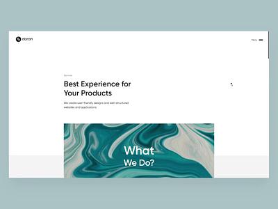 Abron Website Design (Services) animation motiongraphics user interface uiux design agency design studio user-friendly simple design services page web design motion graphics ui