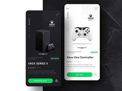 Xbox Store Concept game mobile app mobile xd x xboxone minimal design app icon ux ui