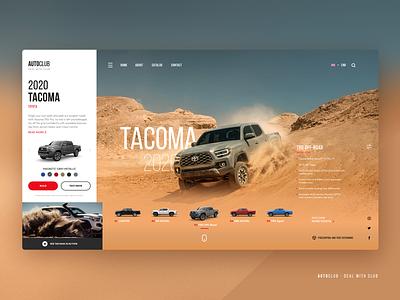 Concept Auto Dealer Site off-road branding promo dealer auto car website ux ui design