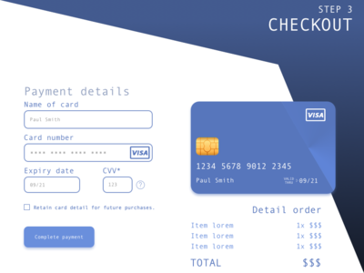 Credit Card Checkout - ¡DailyUI Día 2!