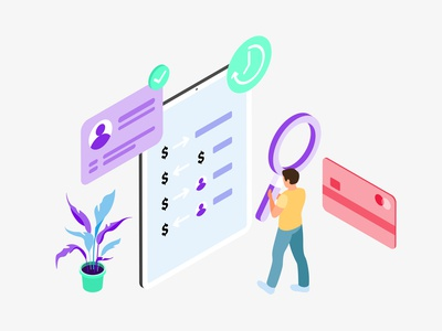 Mobile App Transaction History Features Isometric illustration isometric mobile app ux ui developer redesign webdevelopment webdevelop webdeveloping webdevelopers customillustrations appdesigner