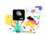 Mobile App Order Food Online Feature Illustration