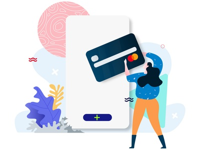 Add Credit Card Feature E-Wallet Illustration