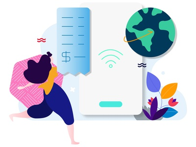Internet Payment Feature E-wallet Illustration