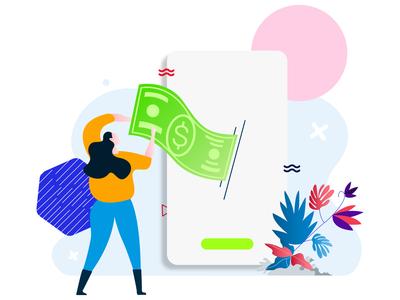 Recharge Your Wallet Feature E-wallet Illustration