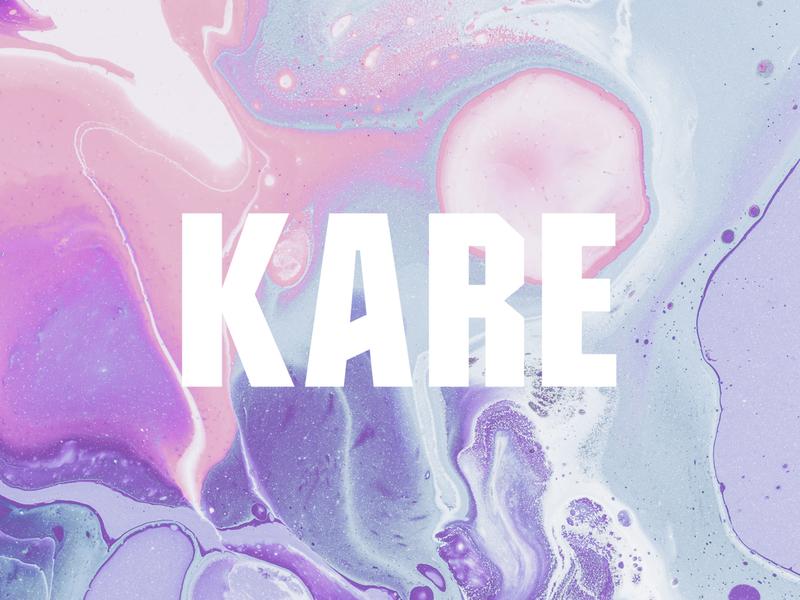 Kare Logo typography logo design branding