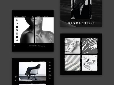 Clay Application Template post instagram template instagram template ux ui mobile app design application socialmedia