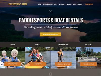 Boat Rental Company Website