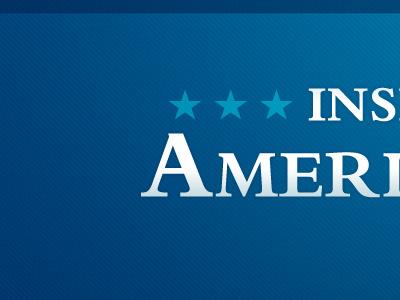 Inspiring American website header blue stripes stars web wordpress bembo