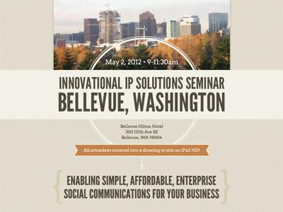 Seminar Email Invite eblast ribbon email invitation league gothic arvo bellevue washington