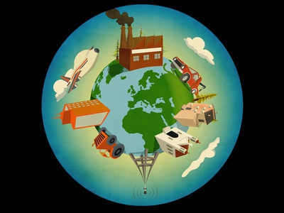Anthropocene - Mr. Porter airplane factory church earth tractor house tow truck antenna giordano poloni