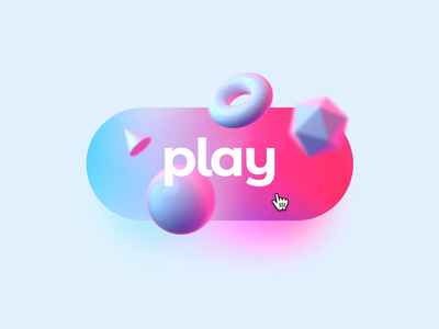 Play with Magic Motion auto animate hover gradient web micro interaction blender prototyping prototype magic motion gif shapes 3d interaction video animation button play framer