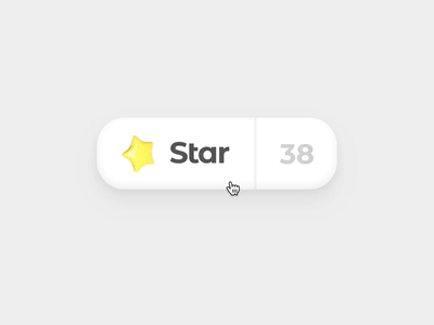 Star Button web auto animate magic motion video prototype blender 3d hover interaction mario star ui button gif animation framer