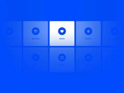 Creating Design Systems in Framer X guide system design system cards components blue gif animation framer