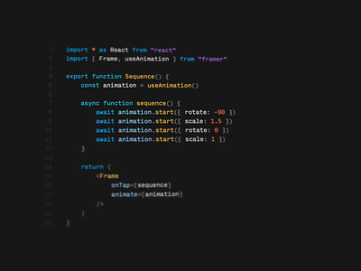 Framer Playground autosuggest 3d popover ui autocomplete prototyping react code framer