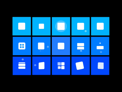 Framer Playground prototyping interaction square blue grid library motion ui animation framer