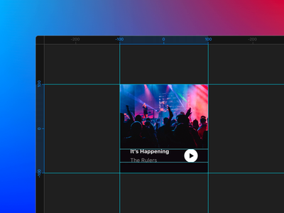 New in Framer X38: Rulers & Guides interaction gif animation ui gradient dark snap snapping alignment guides rulers framerx framer