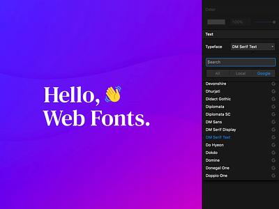 Framer X40: Web Fonts web google framer x gradient purple typography typefaces typeface fonts font dark blue app ui gif animation framer