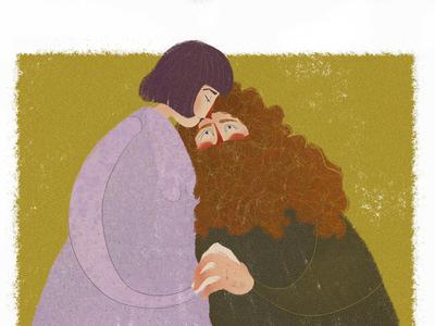 Hagrid and Madame Maxime