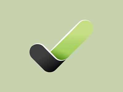Icon Tick conversio brand ci logo green check tick icon