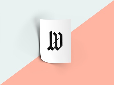 New Visual ID / Logo branding joern westhoff logodesign ci typo blackletter joern illustration letter lettering