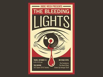 Bleeding Lights – Indie Week Toronto – Poster graphic design illustration gig poster