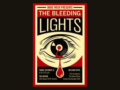 Bleeding Lights – Indie Week Toronto – Poster