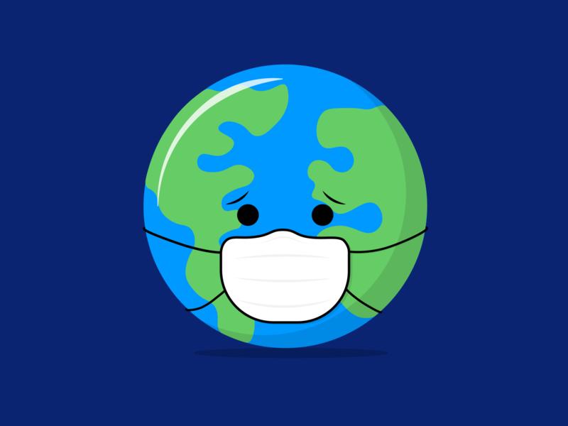 Earth adobe illustrator adobe illustration design illustration vector covid covid-19 mask